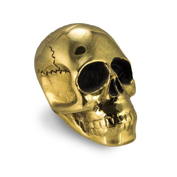 Skull Drawer Pull, Brass (Set of 2)