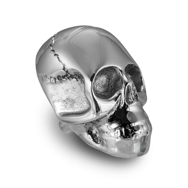 Skull Drawer Pull, Chrome (Set of 2)