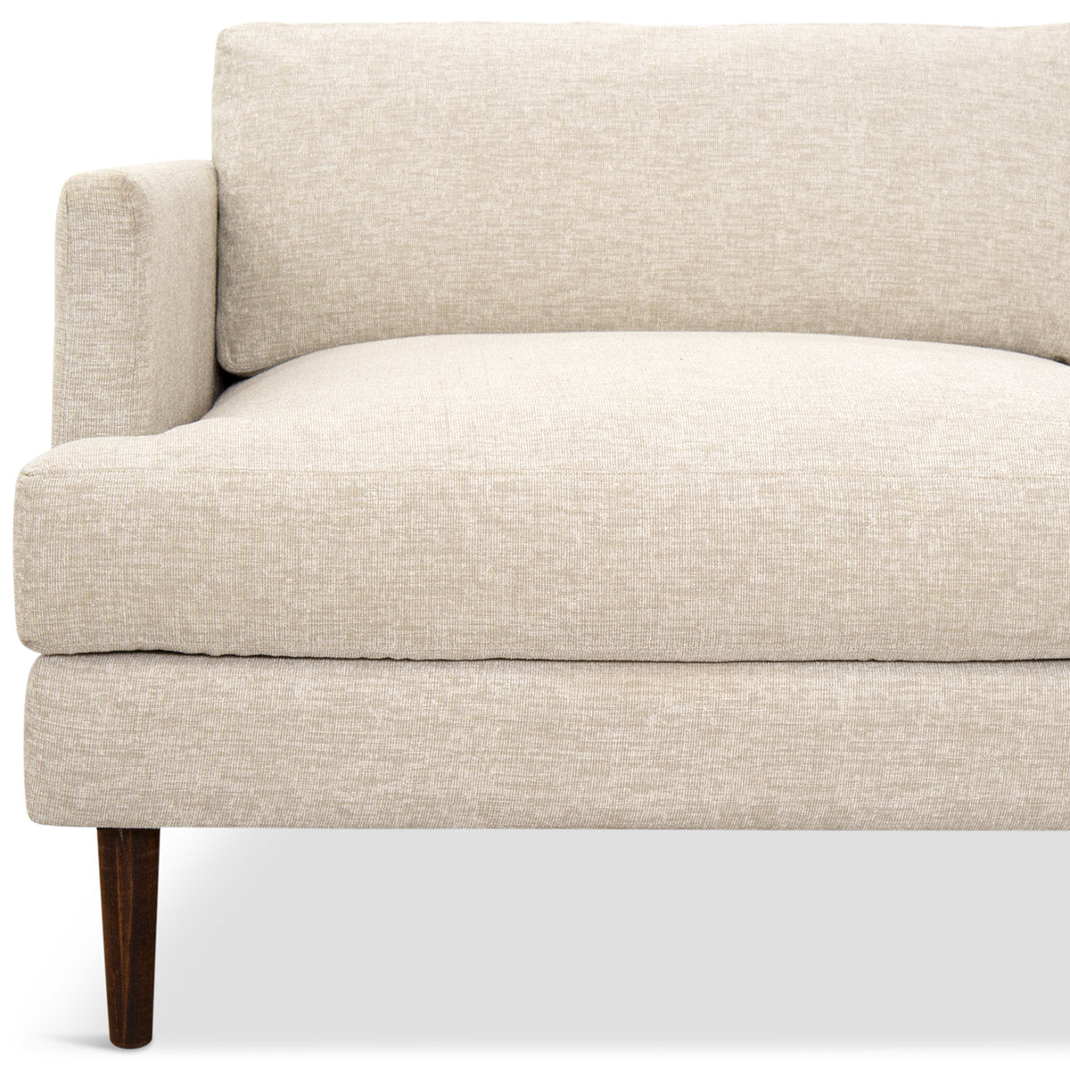 Slim Jim Sectional In Textured Fabric - ModShop1.com