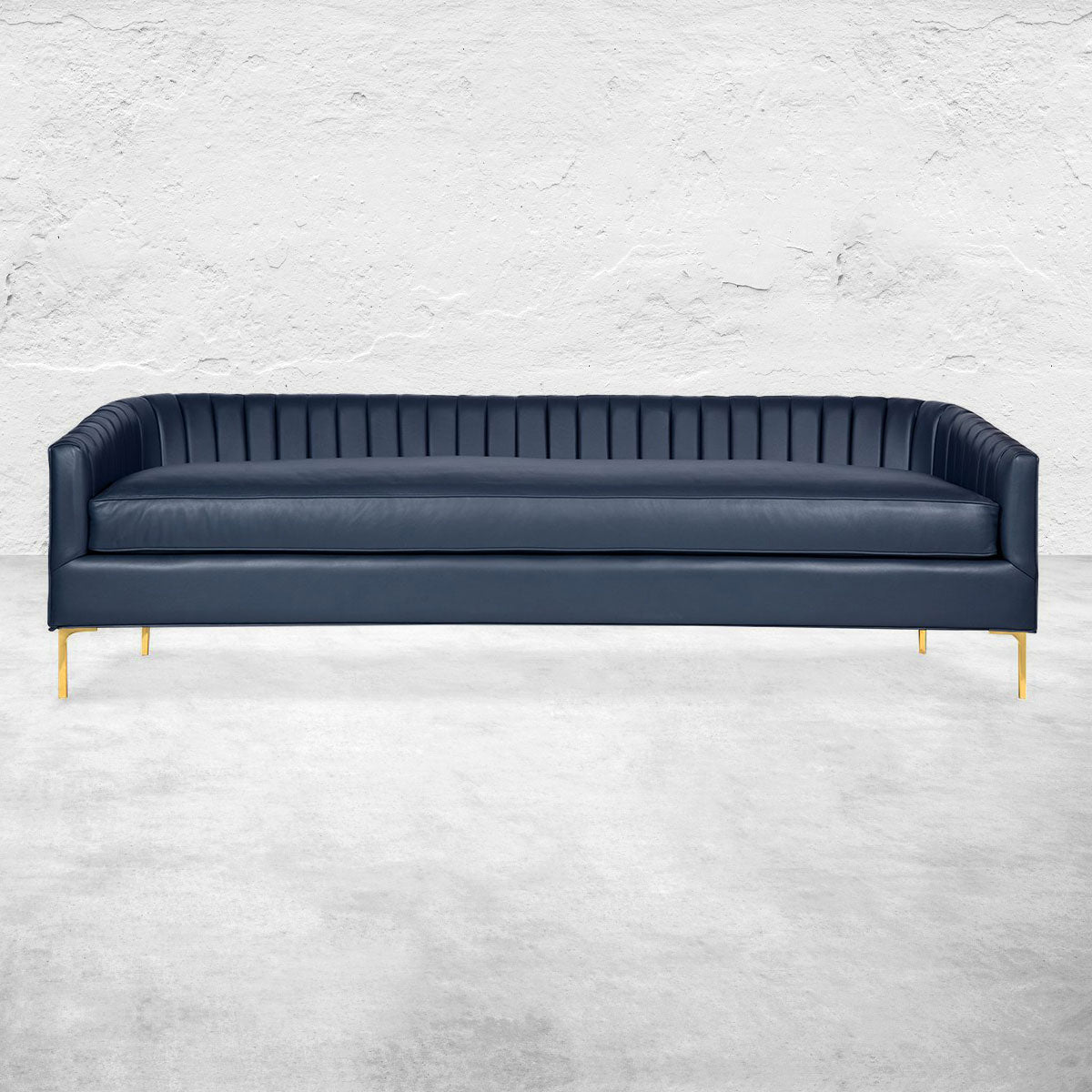 St. Barts Sofa in Channel Tufted Leather