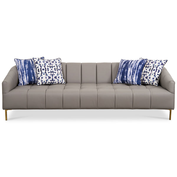 St. Barts Sofa with Tufting in Faux Leather - ModShop1.com