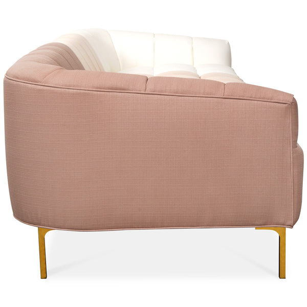 St. Barts Sofa with Tufted Ombre Linen - ModShop1.com