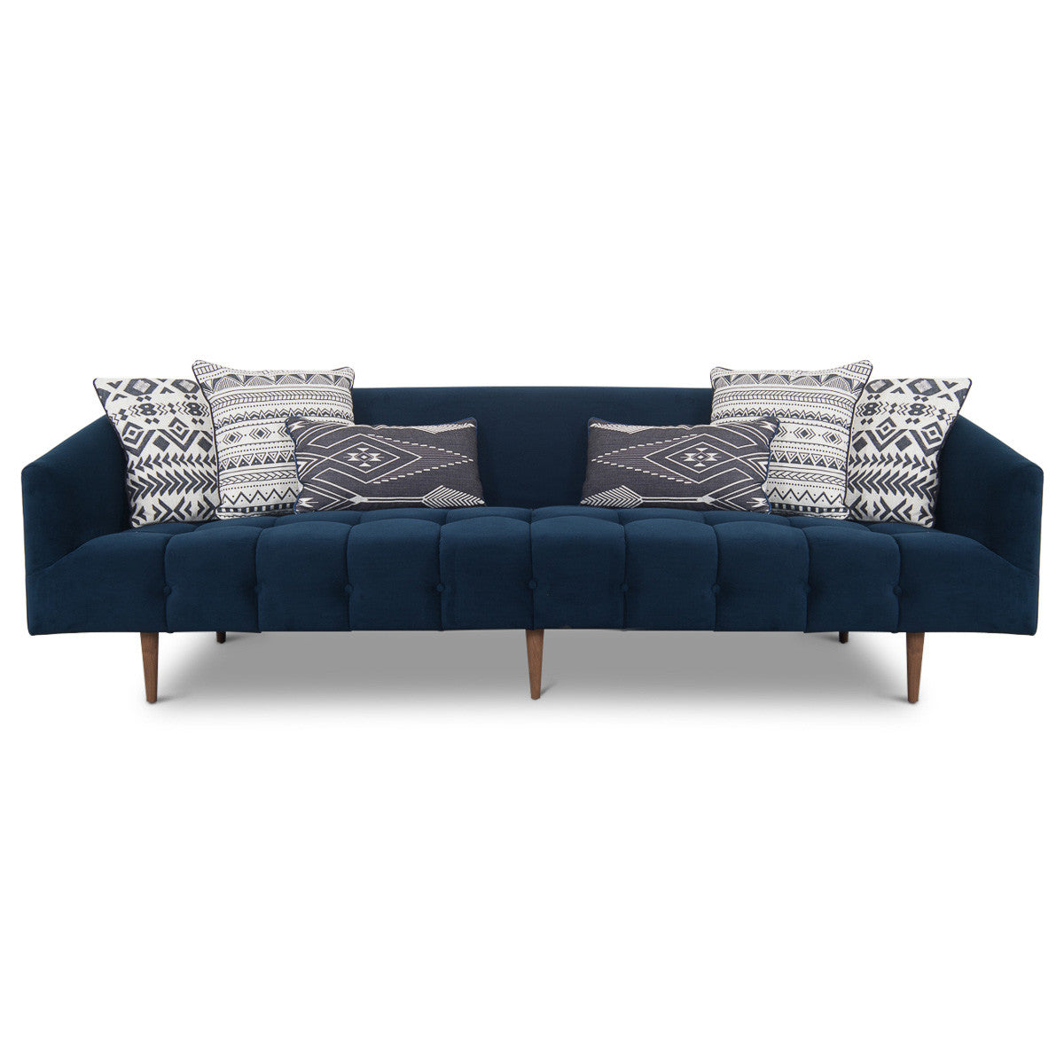 St. Barts Sofa with Biscuit Tufting in Velvet - ModShop1.com