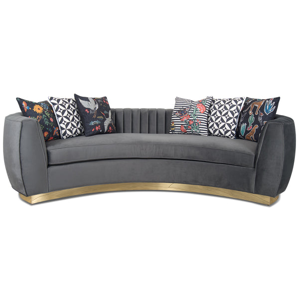 St. Germain Sofa in Channel Tufted Velvet