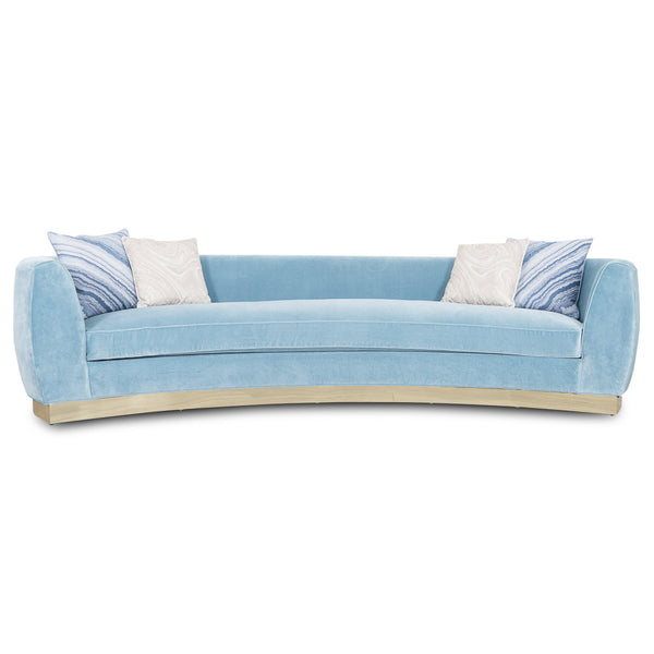 St. Germain Sofa in Capri Blue Velvet