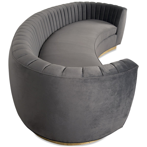 St. Germain Sofa in Channel Tufted Velvet - ModShop1.com