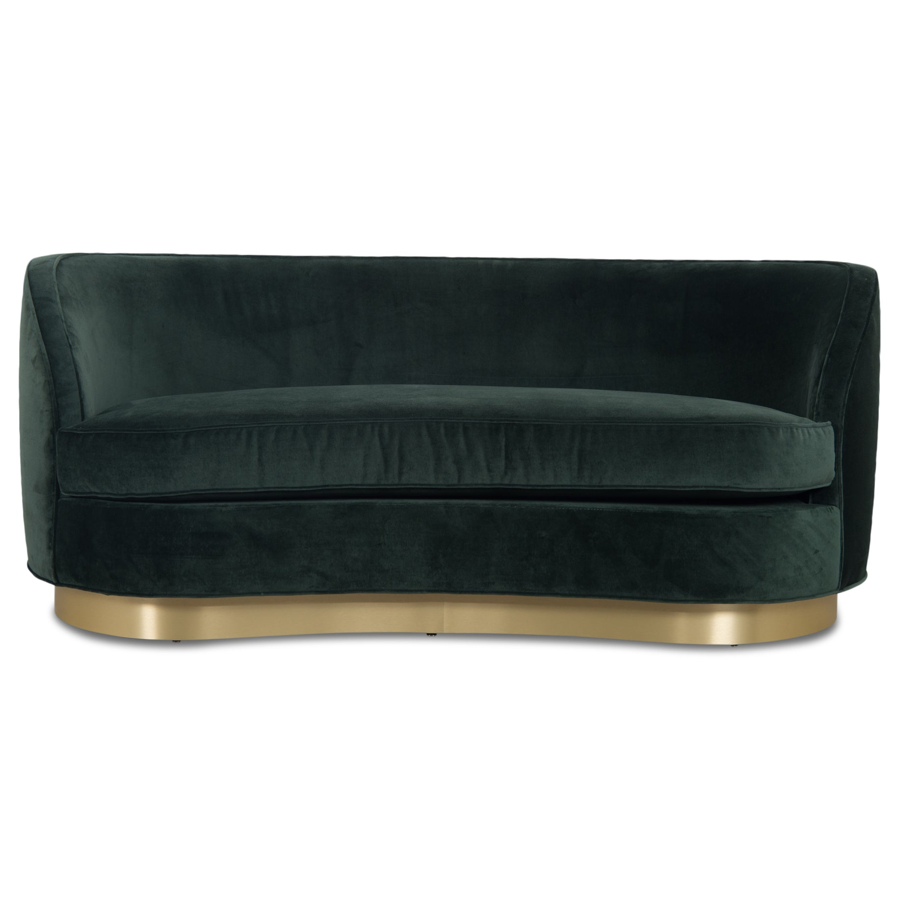 St. Tropez 2 Petite Sofa with Toe Kick in Velvet - ModShop1.com