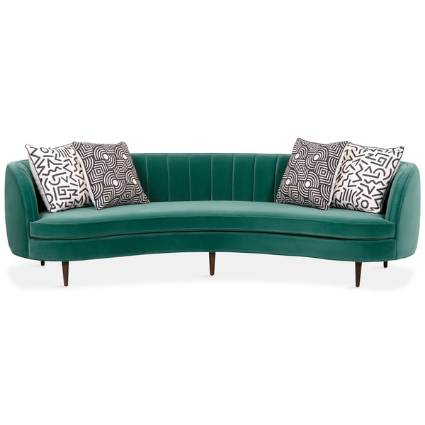 St. Tropez 2 Curved Sofa with Channel Tufting - ModShop1.com
