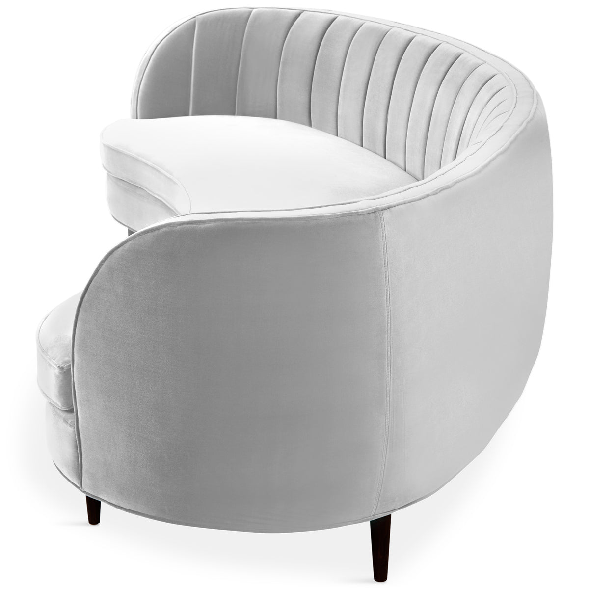 Picture of: St Tropez 2 Curved Sofa With Channel Tufting Modshop
