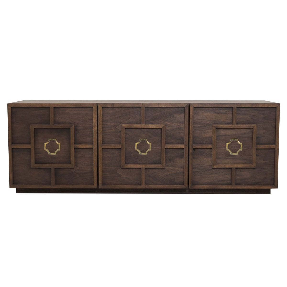 St. Tropez 3 Door Credenza in Oiled Walnut - ModShop1.com