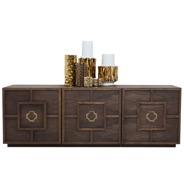 St. Tropez 3 Door Credenza in Oiled Walnut