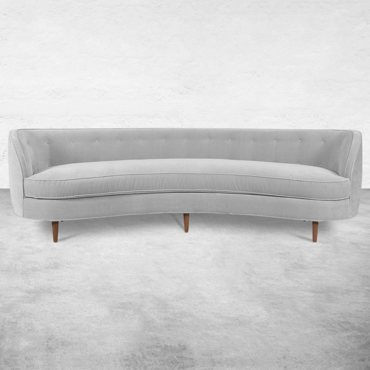 St. Tropez 2 Curved Sofa in Velvet