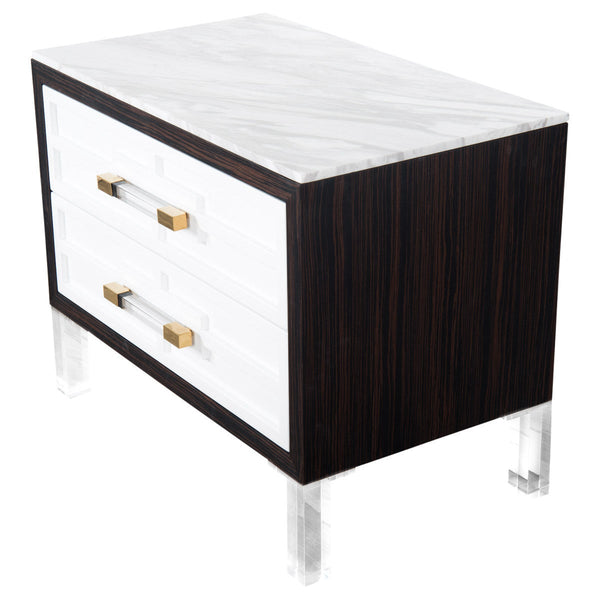 St. Tropez Side Table with Marble Top