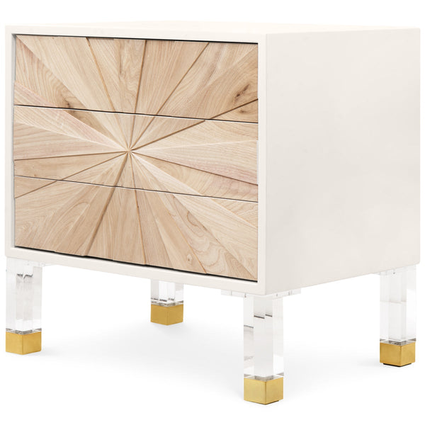 Starburst 3 Drawer Side Table - ModShop1.com