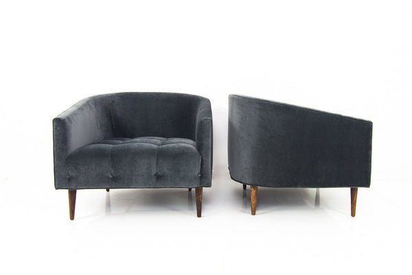 St. Barts Chair in Charcoal Velvet