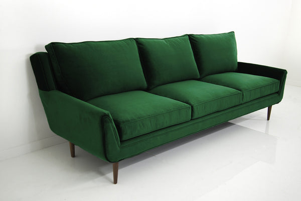 Stockholm Sofa In Emerald Green Velvet Modshop
