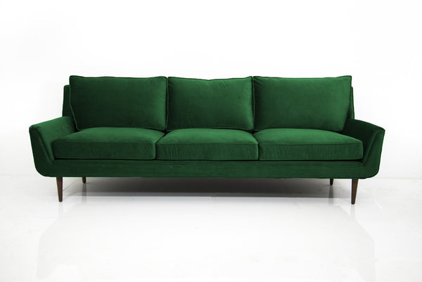 Stockholm Sofa in Emerald Green Velvet - ModShop1.com