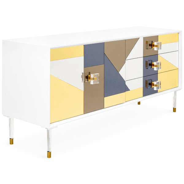 Studio 54 - 1 Door and 3 Drawer Credenza - ModShop1.com
