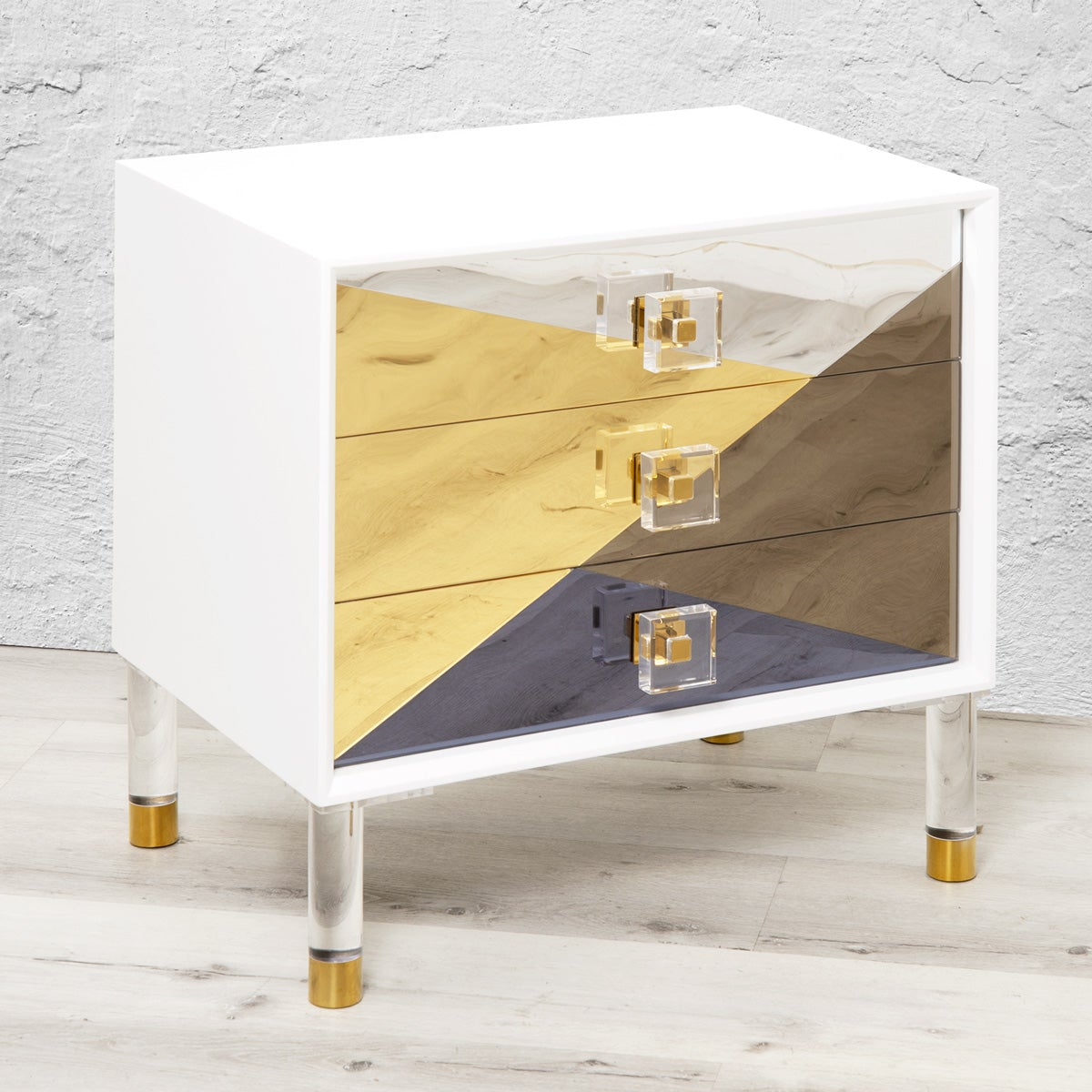 Studio 54 Mirrored Side Table - ModShop1.com