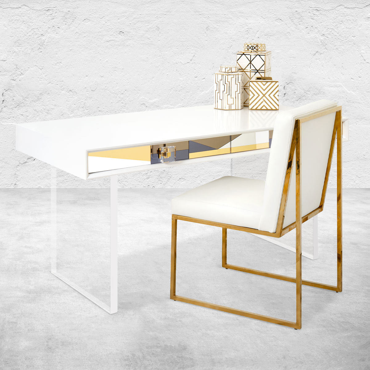 Studio 54 Mirrored Desk
