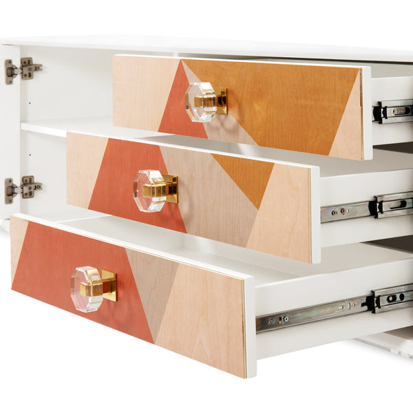 Sunny Isle High 1 Door 3 Drawer Credenza