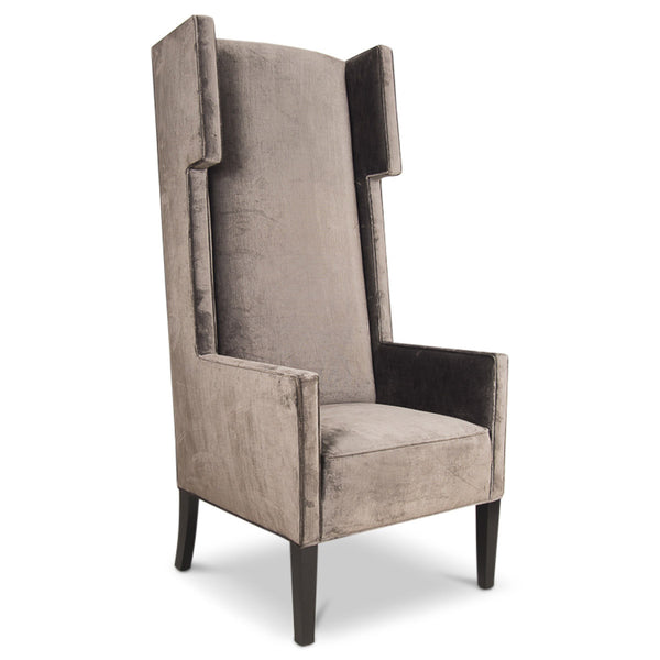 Tangier Wing Dining Chair In Brown Velvet