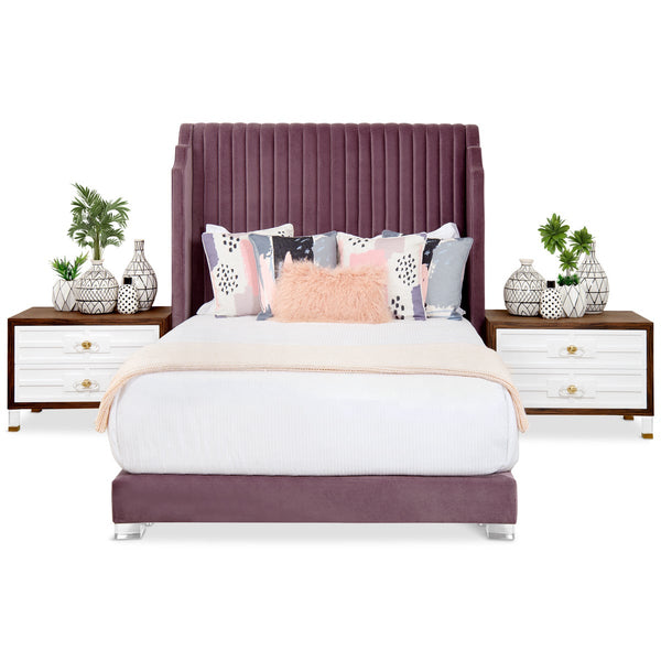 Tiffany Bed with Channel Tufting