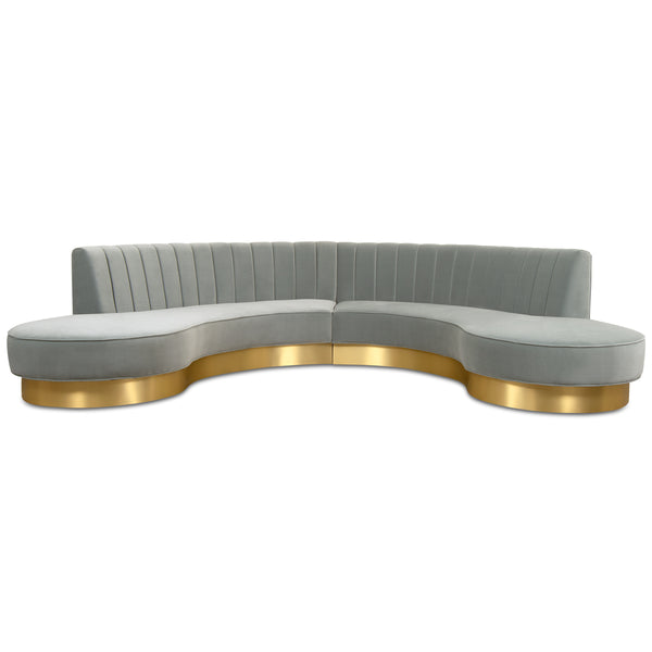 Tribeca Sectional with Brushed Brass Toe Kick - ModShop1.com