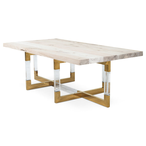 Trousdale 2 Coffee Table with Bleached Walnut Top - ModShop1.com