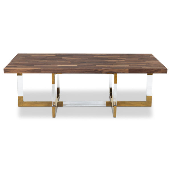 Trousdale 2 Coffee Table with Oiled Walnut Top - ModShop1.com