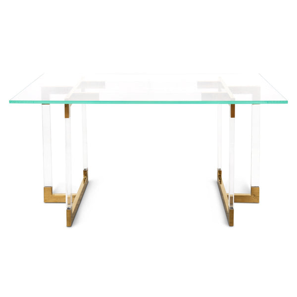 Trousdale 2 Desk with Glass Top - ModShop1.com