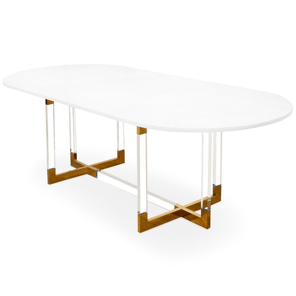 Trousdale 2 Oval Dining Table in Quartz