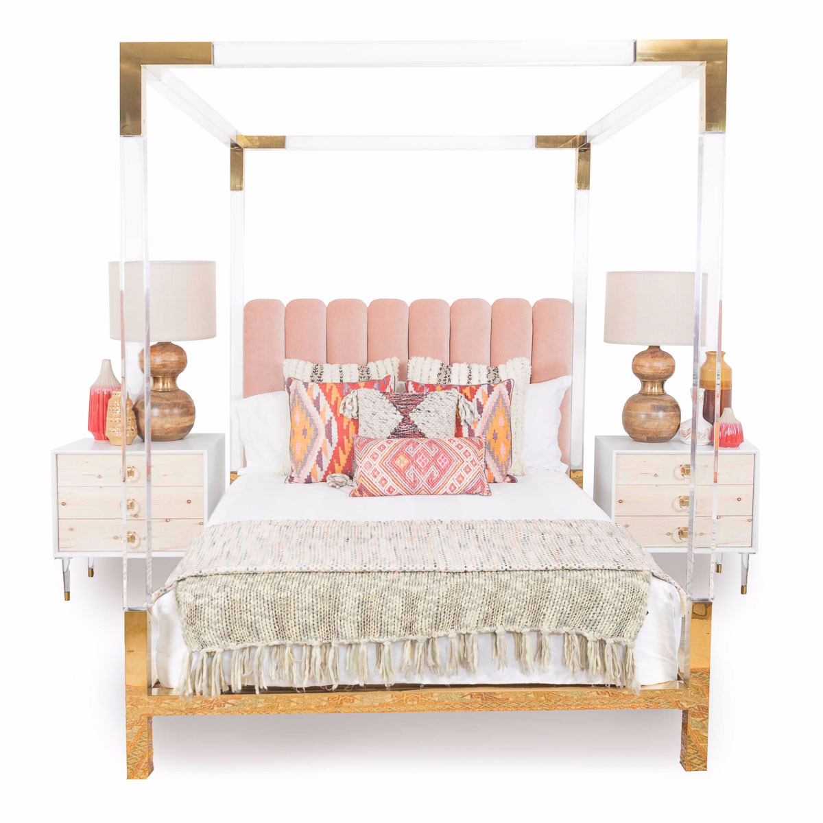 trousdale four poster lucite bed - modshop