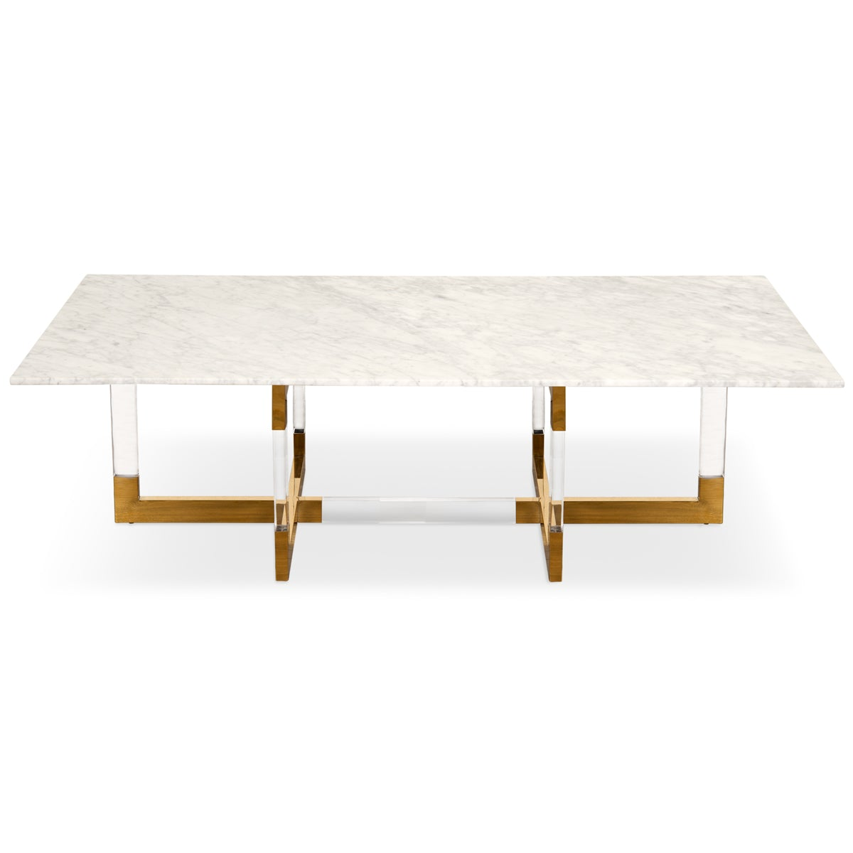 Trousdale 2 Coffee Table with Carrara Marble Top - ModShop1.com