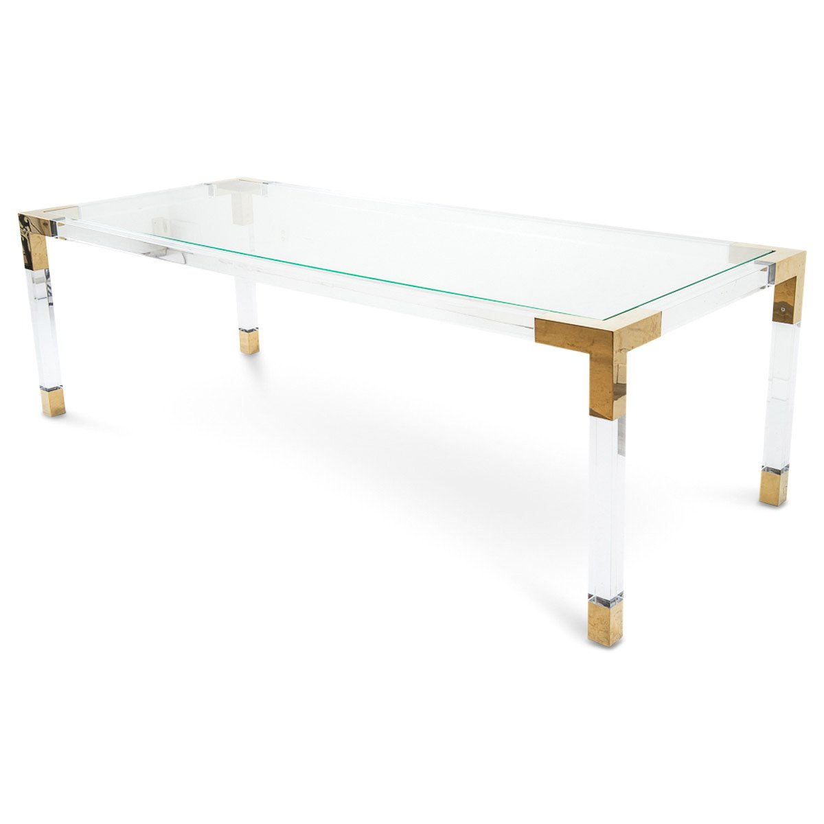 Furniture Factory Outlet Dallas: Modern Lucite And Brass Gold Desk