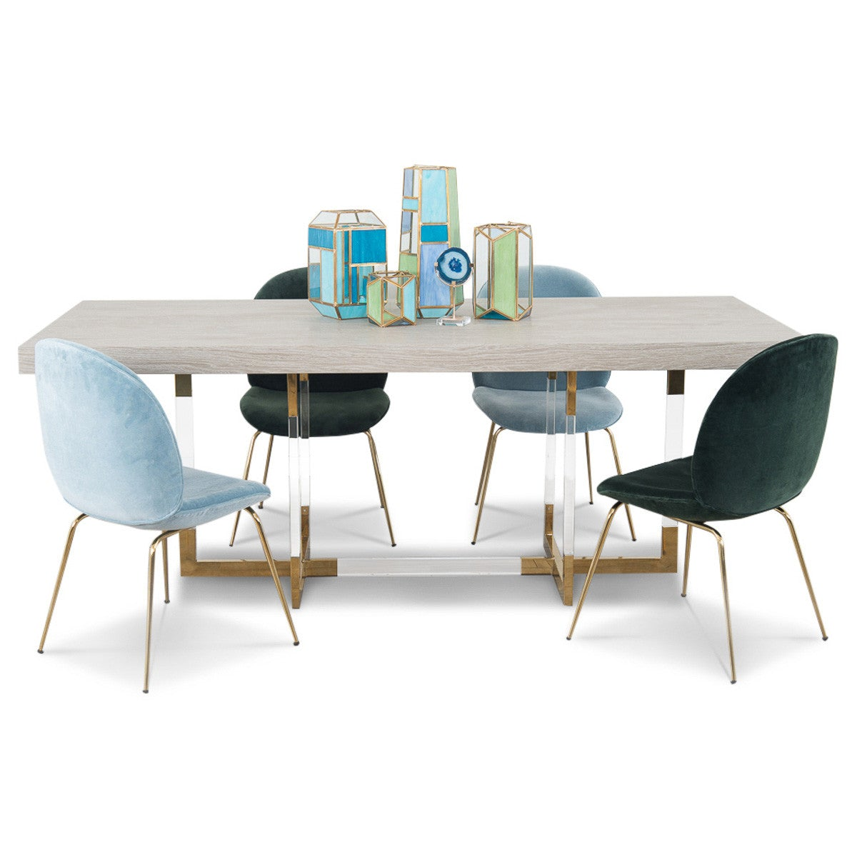 Trousdale 2 Dining Table With Light Oak Top