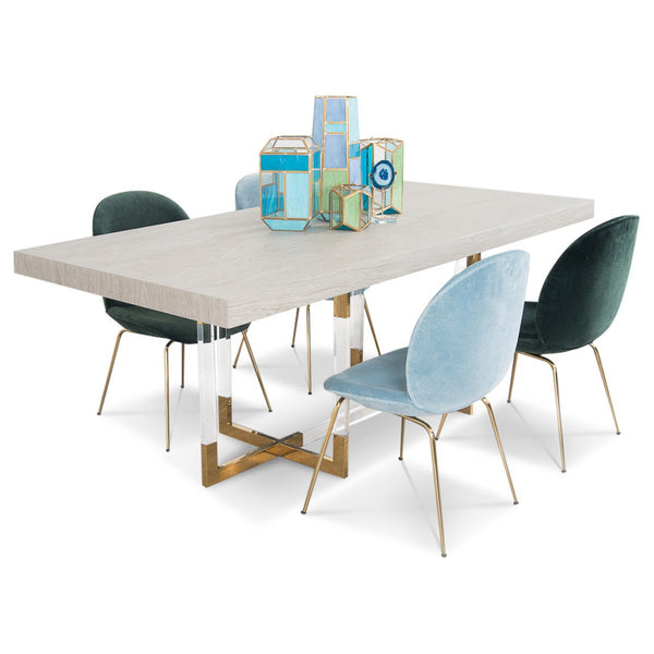 Trousdale 2 Dining Table with Light Oak Top - ModShop1.com