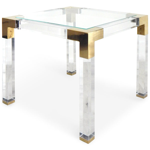 Trousdale Side Table in Brushed Brass