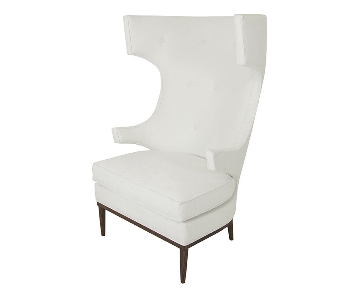 modern wing chairs. Trousdale Wing Chair In Bella White Modern Chairs