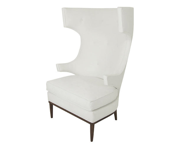 Trousdale Wing Chair in Bella White - ModShop1.com