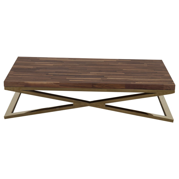 X-Leg Coffee Table with Solid Walnut Top - ModShop1.com
