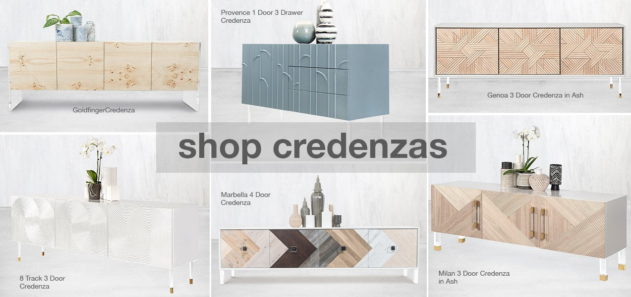 shop our modern credenzas
