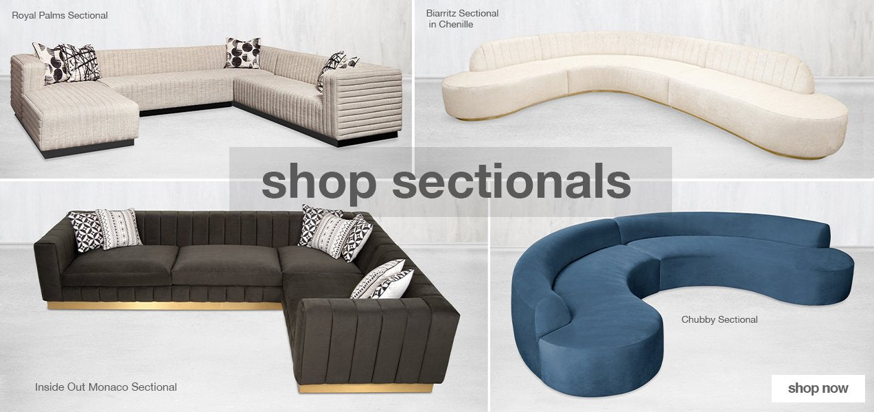 shop our modern sectionals