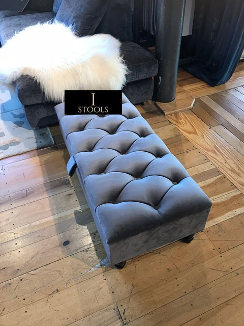 Rectangle Upholstered Ottoman Storage - Ripple Interior