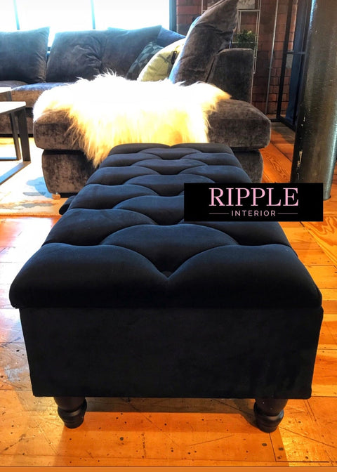Rectangle Upholstered Ottoman Storage Seat