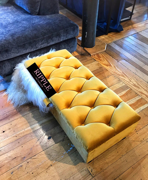 Upholstered Ottoman Storage Seat