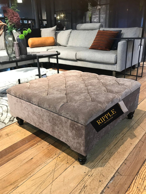 Square Upholstered Ottoman Storage Bench