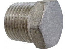 "Stainless 1/2"" MPT Plug - Hollow"