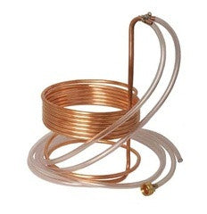 Copper Immersion Wort Chiller (25' x 3/8 in. With Tubing)