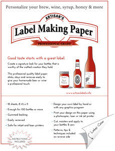Label Making Paper - Yellow